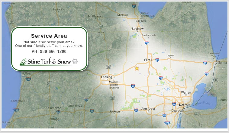 Stine Lawn Turf Snow Michigan Service Area